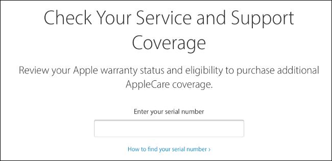 Verifique la cobertura de Apple a través de la web